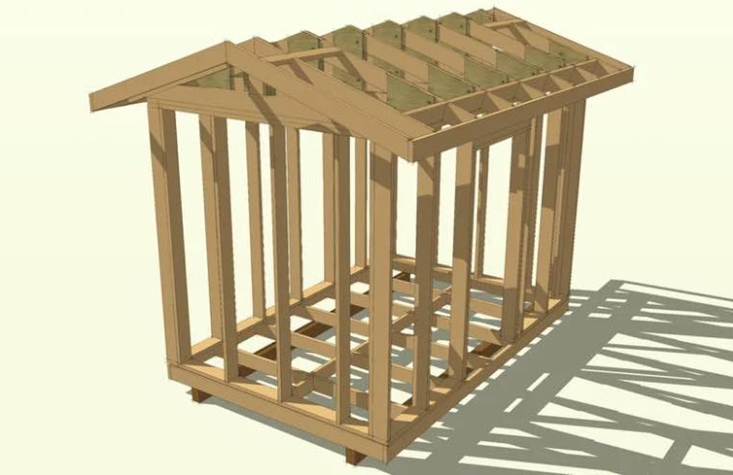 Build a Storage Shed Skeleton with free plans.