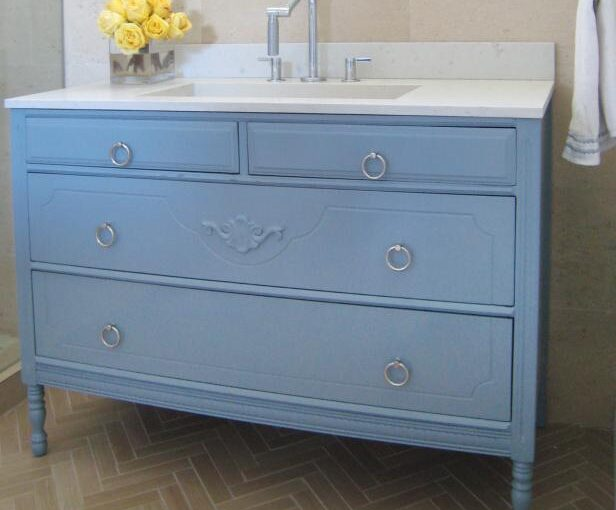 Turn a Cabinet into a Vanity