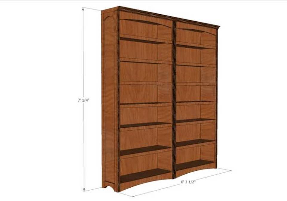 How to build Bookcase Floor to Ceiling.