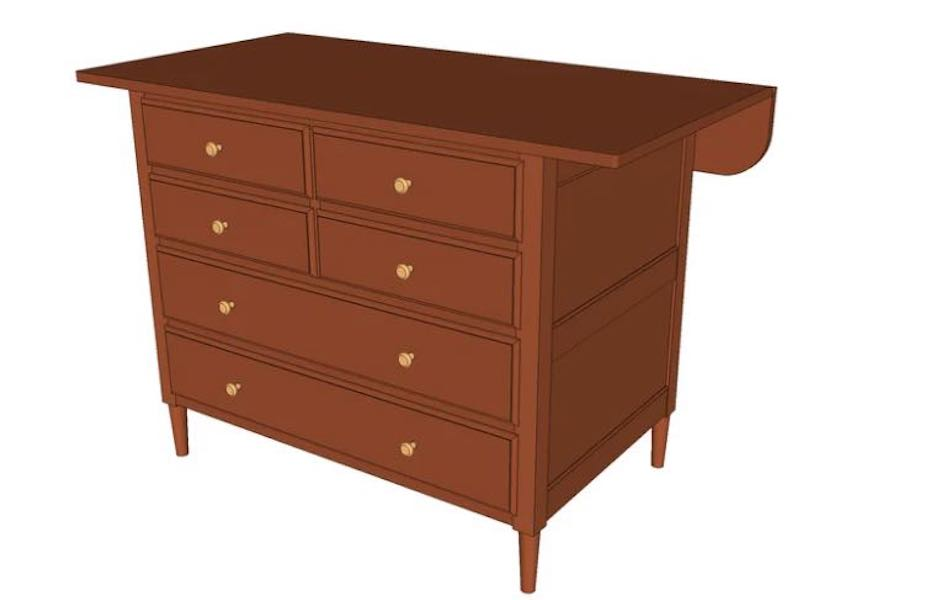 Free plans to build a Shaker Tailors Cabinet.