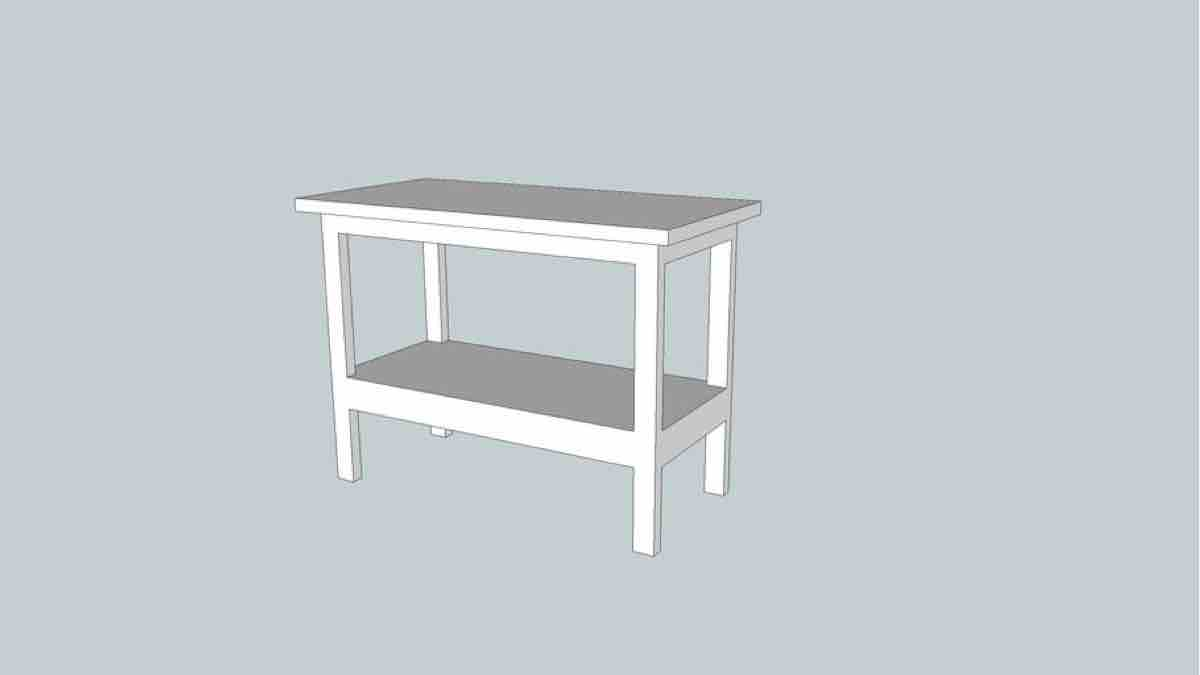 How to build a Simple Workbench free offer of woodwroking SketchUp Plans.