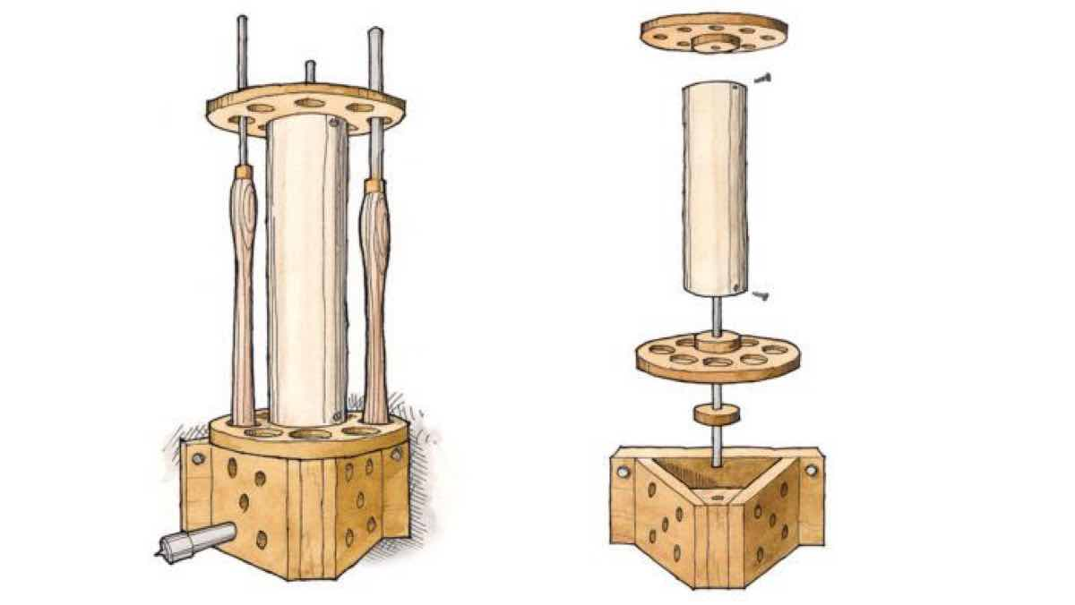 tool racks,tool carousel,workshops,free woodworking plans,projects,lathes,tools,storage,do it yourself,woodworkers