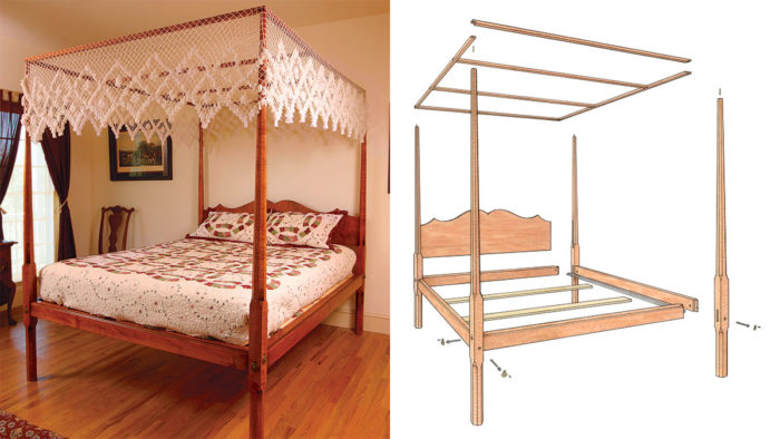 Free instructions to build a Pencil Post Bed.