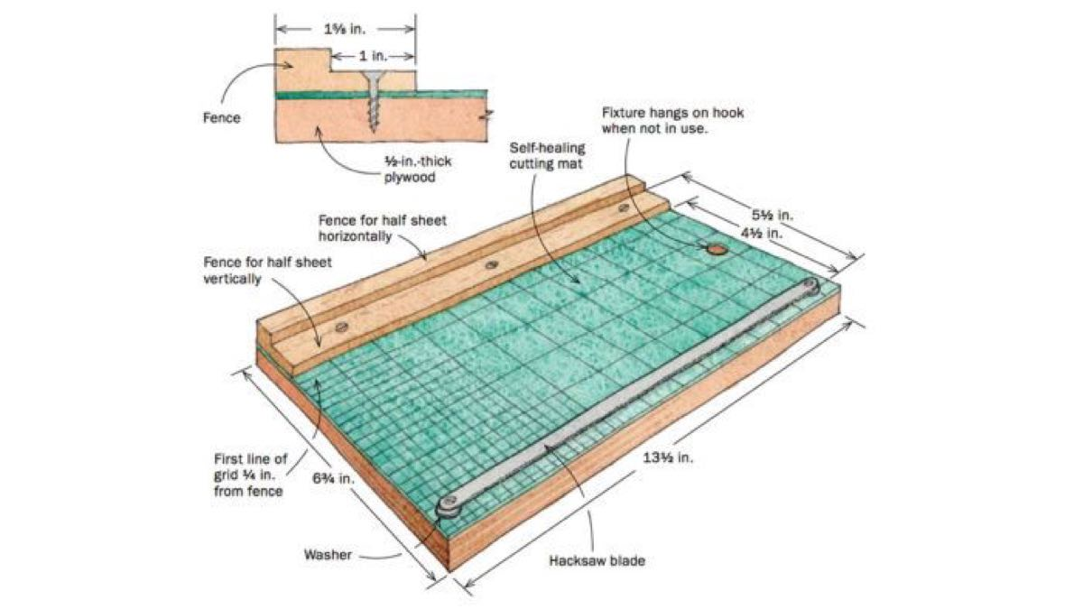 Sandpaper Ripping Jig Free Workshop Plans