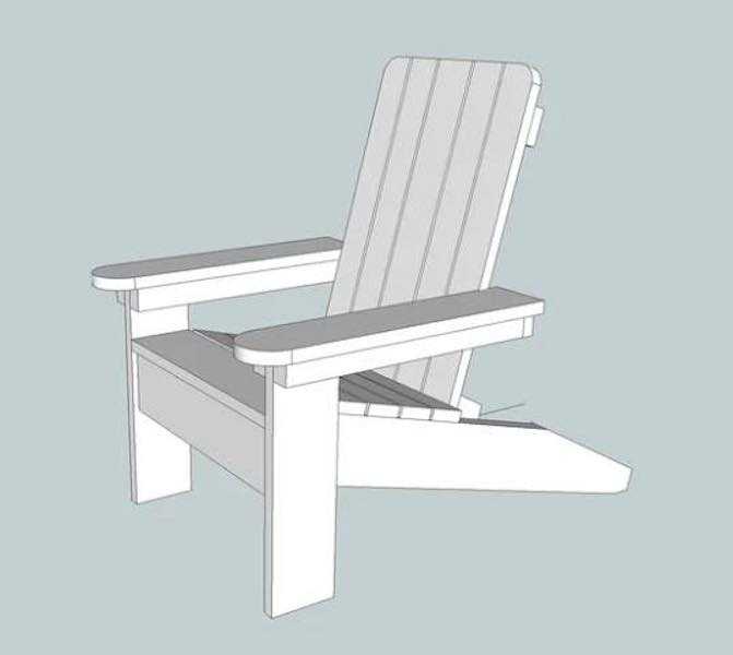 Free plans to build a Childs Adirondack Chair.