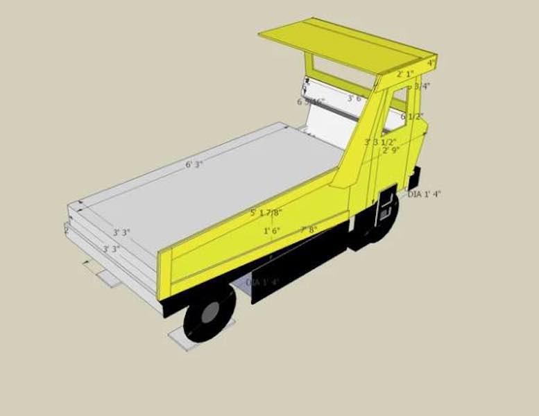Free plans to build a Dump Truck Bed.