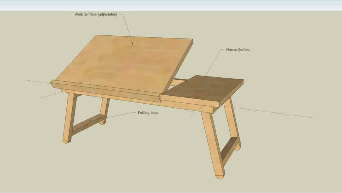 bed tables,trays,sketchup,Google 3D,3-D warehouse,breakfast tray,adjustable,drawings,free woodworking plans,projects,do it yourself,woodworkers