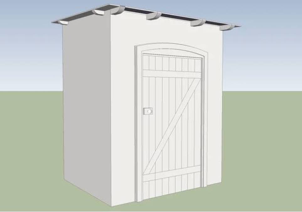 Free plans to build a Garden Tool Shed.