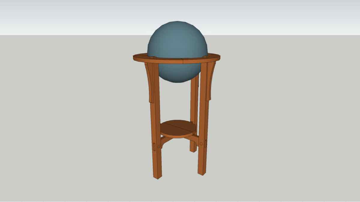 stands,globes,sketchup,Google 3D,3-D warehouse,furniture,globe stand,arts and crafts,drawings,free woodworking plans,projects,do it yourself,woodworkers