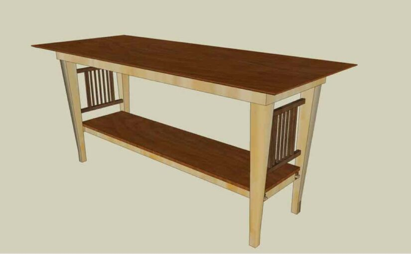 Mission Hall Table SketchUp
