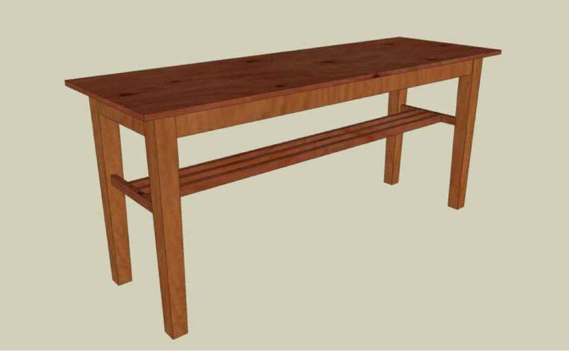 Hall Table SketchUp