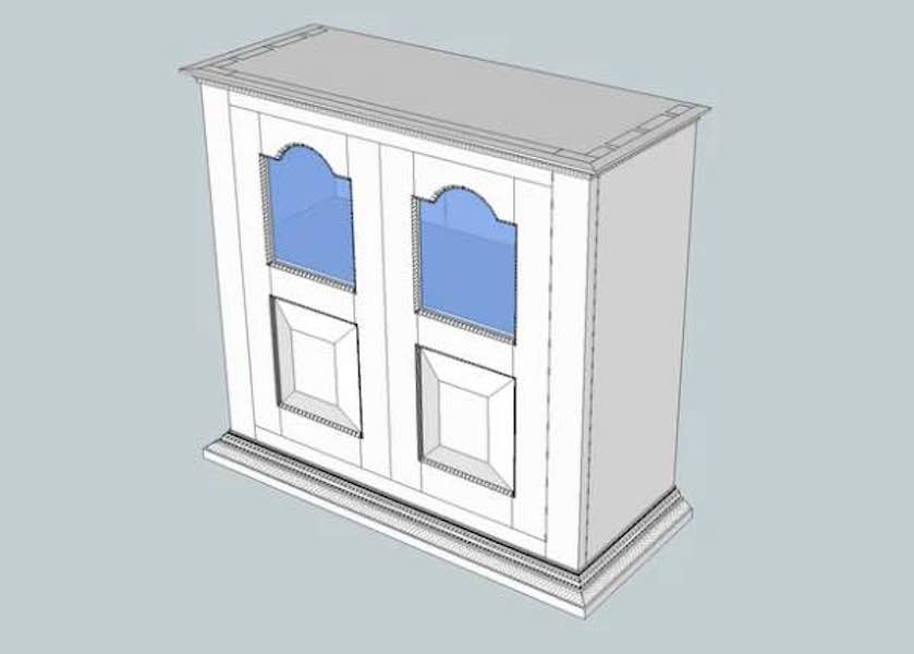 Free plans to build a Hanging Cupboard.