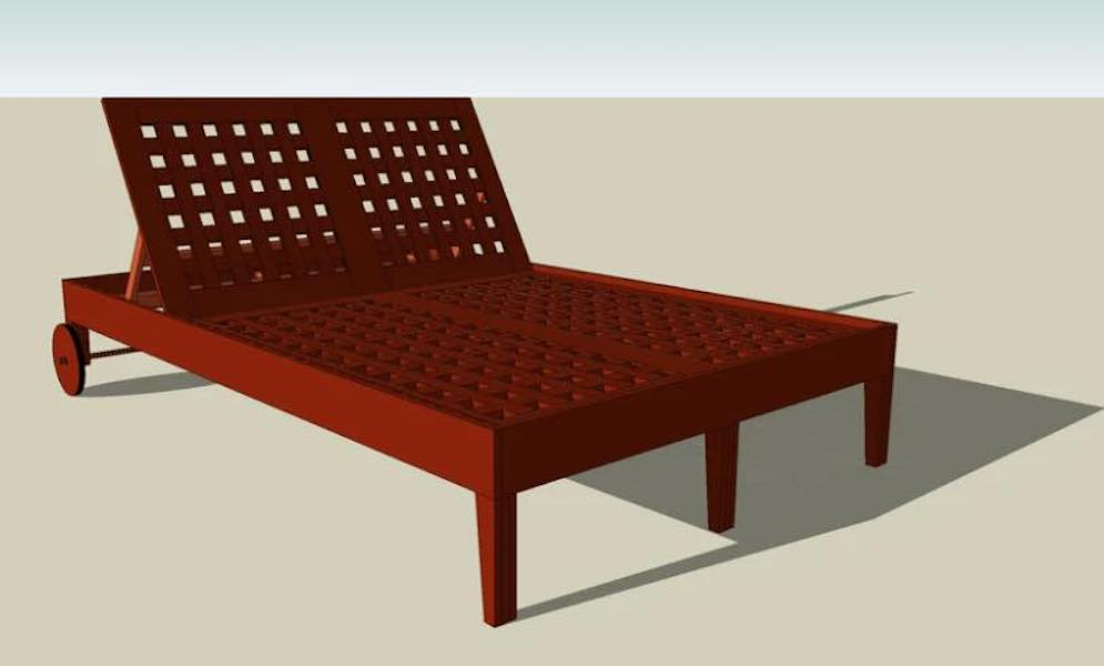 Free plans to build a Double Lounger.