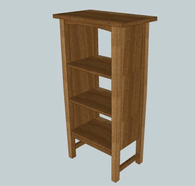 Build a Stickley Inspired Magazine Cabinet SketchUp.