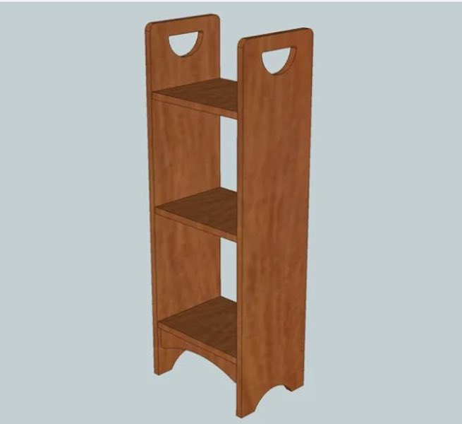 Free plans to build a magazine stand.
