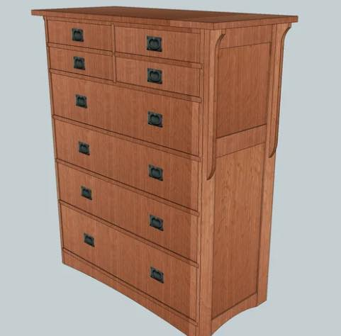 Mission Chest of Drawers free plans..