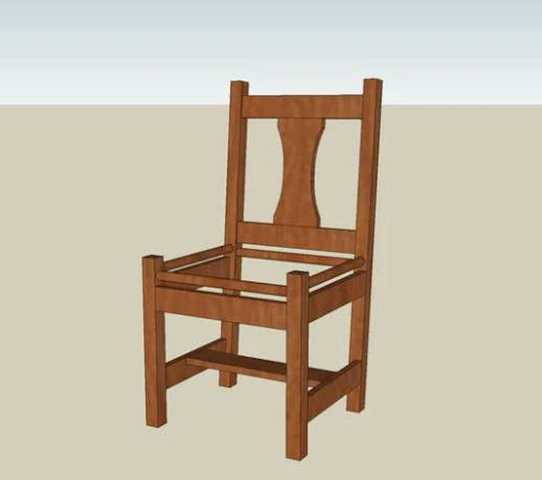 Build a Mission Side Chair using free plans.