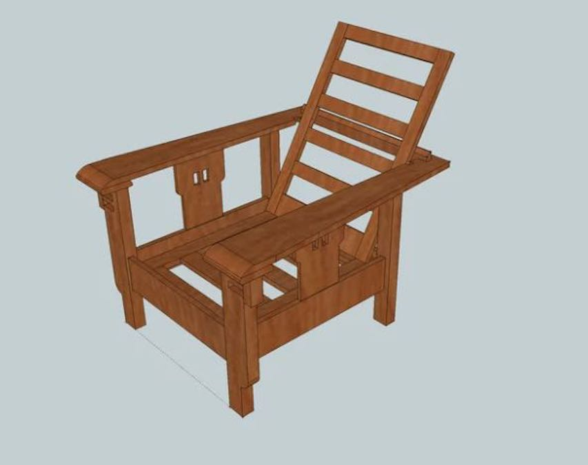 Free plans to build a Morris Chair.