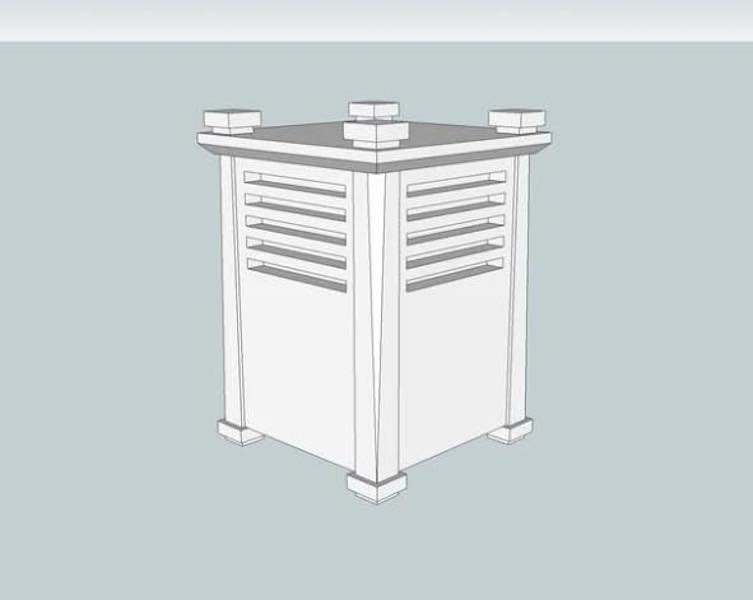 Free plans to build an Outdoor Lantern.