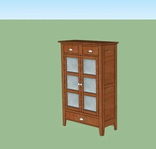 Free plans to build a Pie Safe using SketchUp.