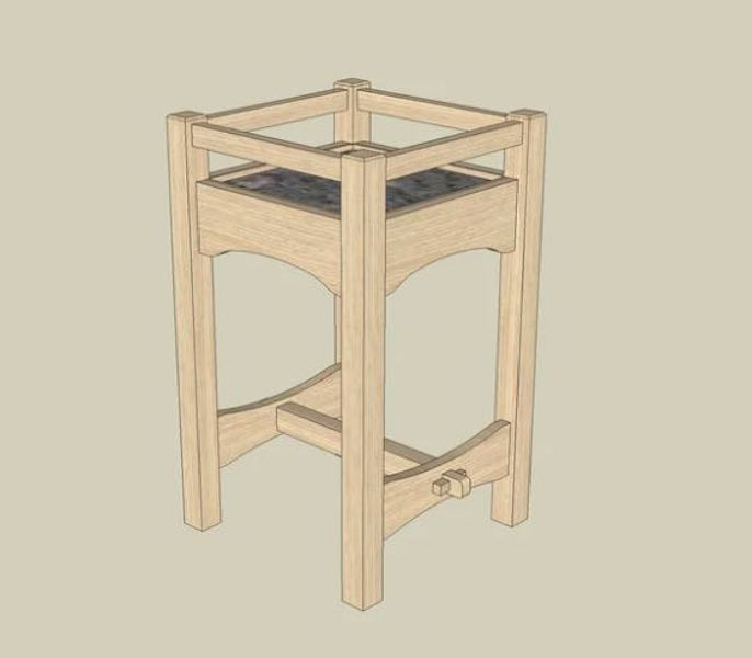 Free plans to build a Stickley Plant Stand.