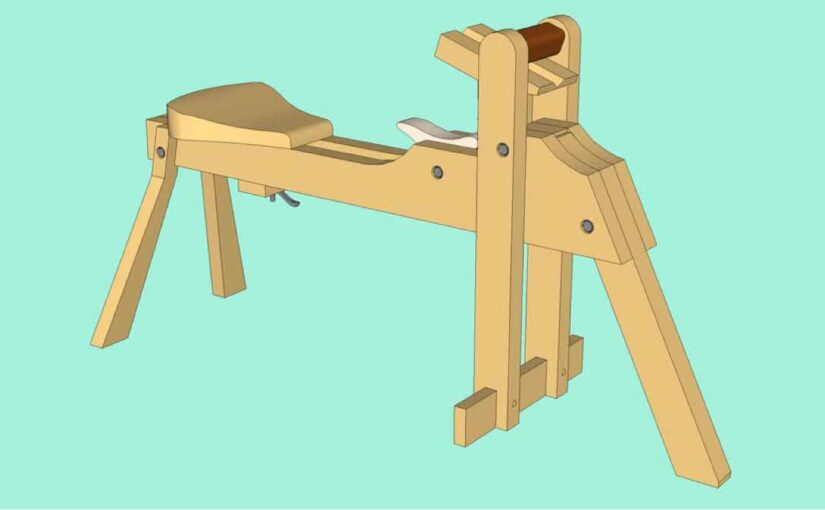Free SketchUp Plans for a Shaving Horse by Brian Boggs