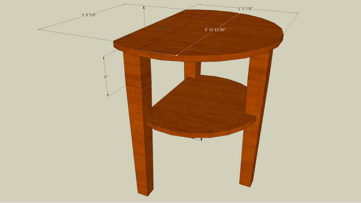 side table,round,sketchup,Google 3D,3-D warehouse,furniture,end table,drawings,free woodworking plans,projects,do it yourself,woodworkers