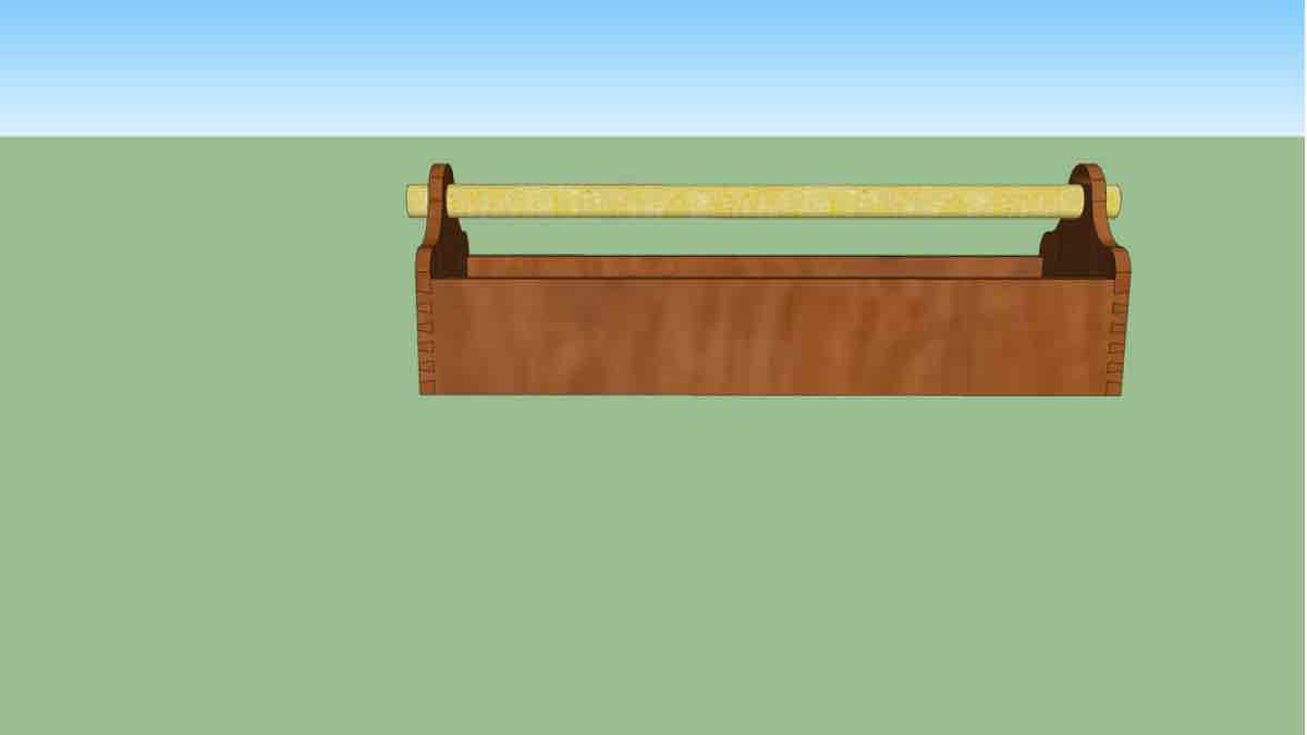 SketchUp Plan for a Simple Tool Tote