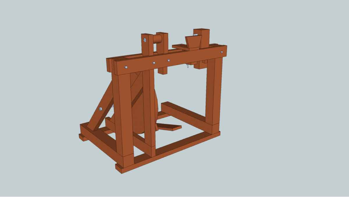 lathes,treadle lathes,sketchup,Google 3D,3-D warehouse,foot powered,tools,drawings,free woodworking plans,projects,do it yourself,woodworkers