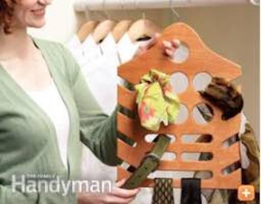 Build a Hanging Closet Organizer using free plans.