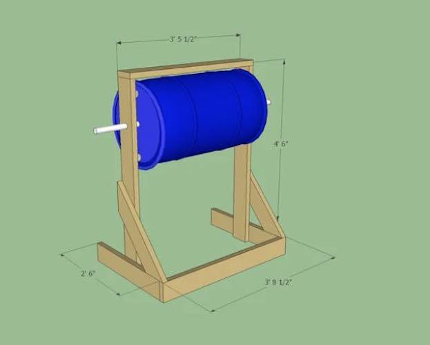 Frame for Compost Barrel