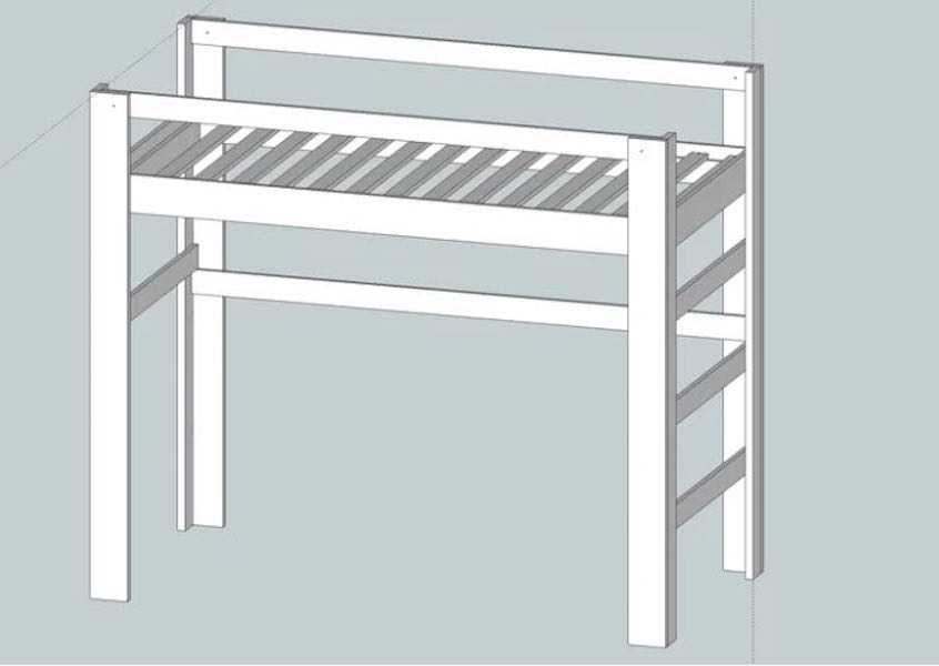Free plans to build a Loft Bed.