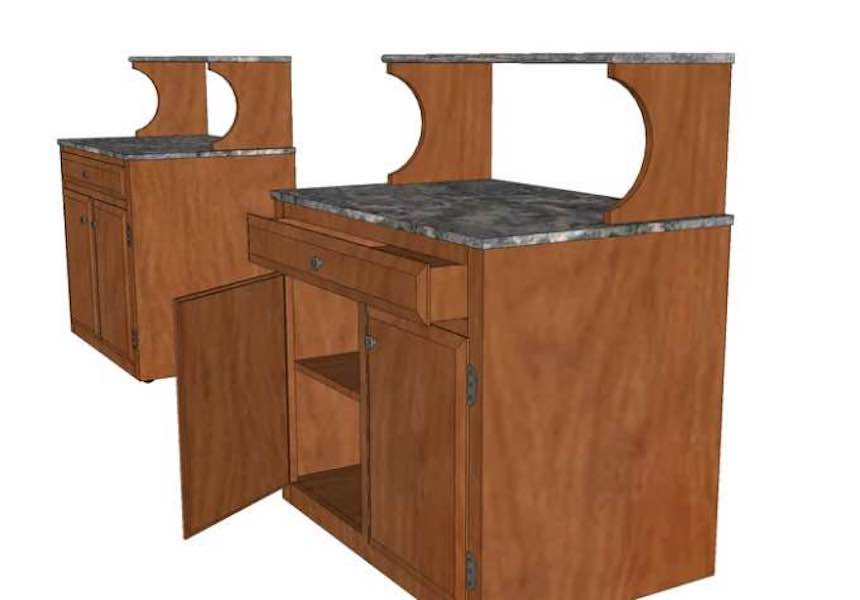 Free plans to build a Microwave Stand.