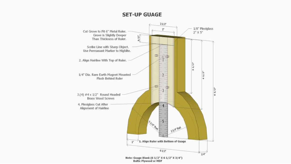 measuring,tools,workshop jigs,sketchup,Google 3D,3-D warehouse,set up gauge,drawings,free woodworking plans,projects,do it yourself,woodworkers