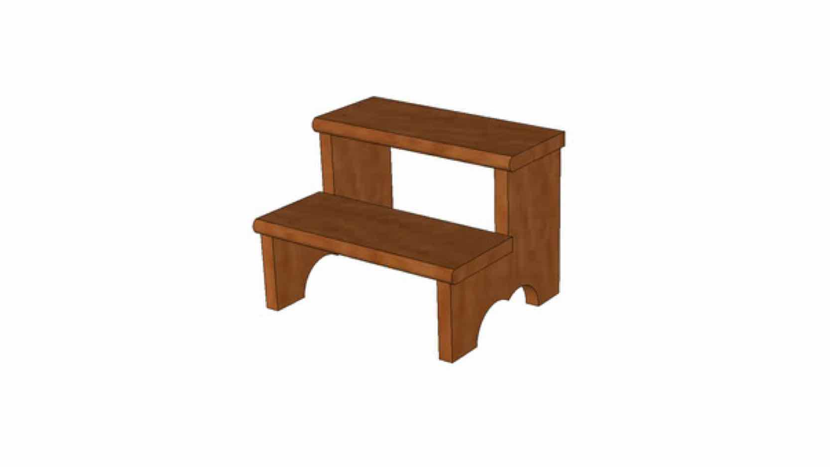 stools,step stools,sketchup,Google 3D,3-D warehouse,furniture,drawings,free woodworking plans,projects,do it yourself,woodworkers