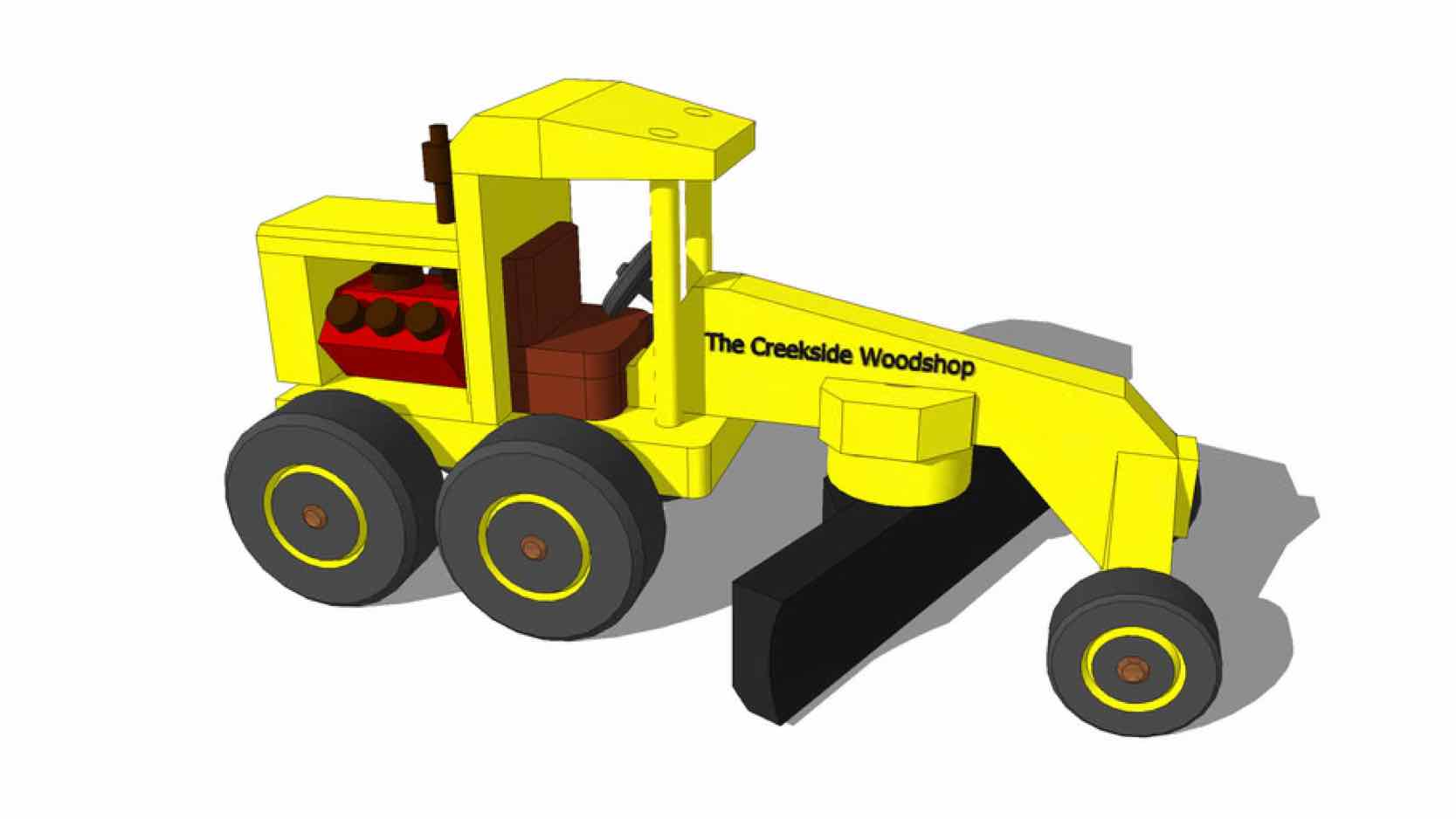 models,conostruction equipment,tractors,road graders,toys,sketchup,Google 3D,3-D warehouse,road graders,childrens,kids,childs,drawings,free woodworking plans,projects,do it yourself,woodworkers