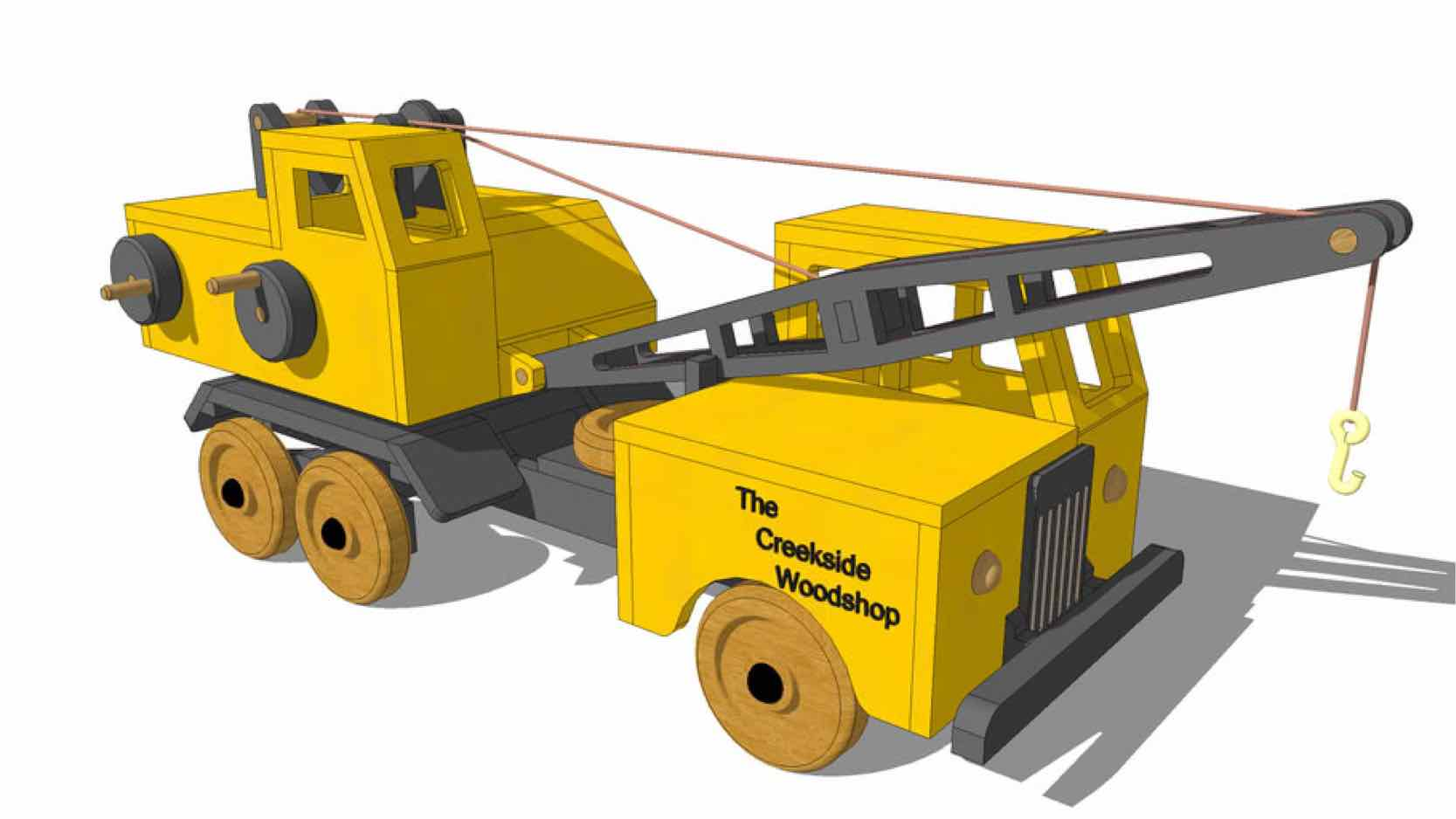 construction equipment,toys,childrens,sketchup,Google 3D,3-D warehouse,trucks,cranes,childs,kids,drawings,free woodworking plans,projects,do it yourself,woodworkers