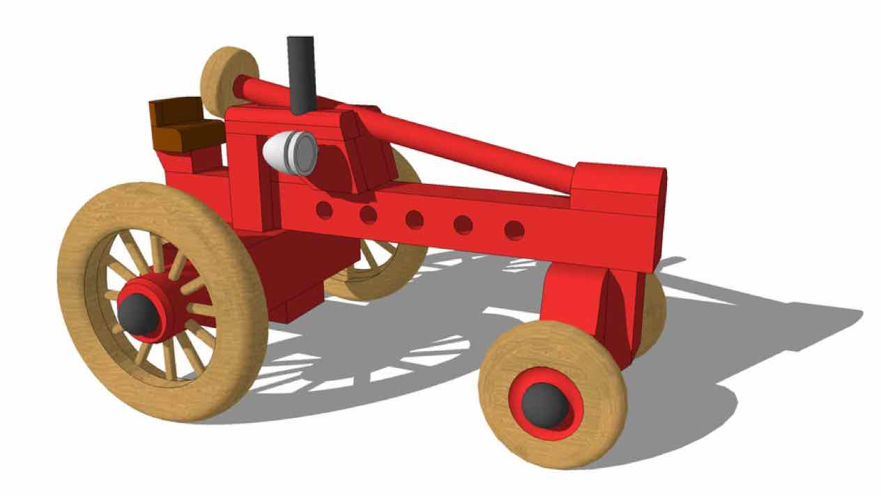 toys,tractors,sketchup,Google 3D,3-D warehouse,childrens,childs,kids,drawings,free woodworking plans,projects,do it yourself,woodworkers