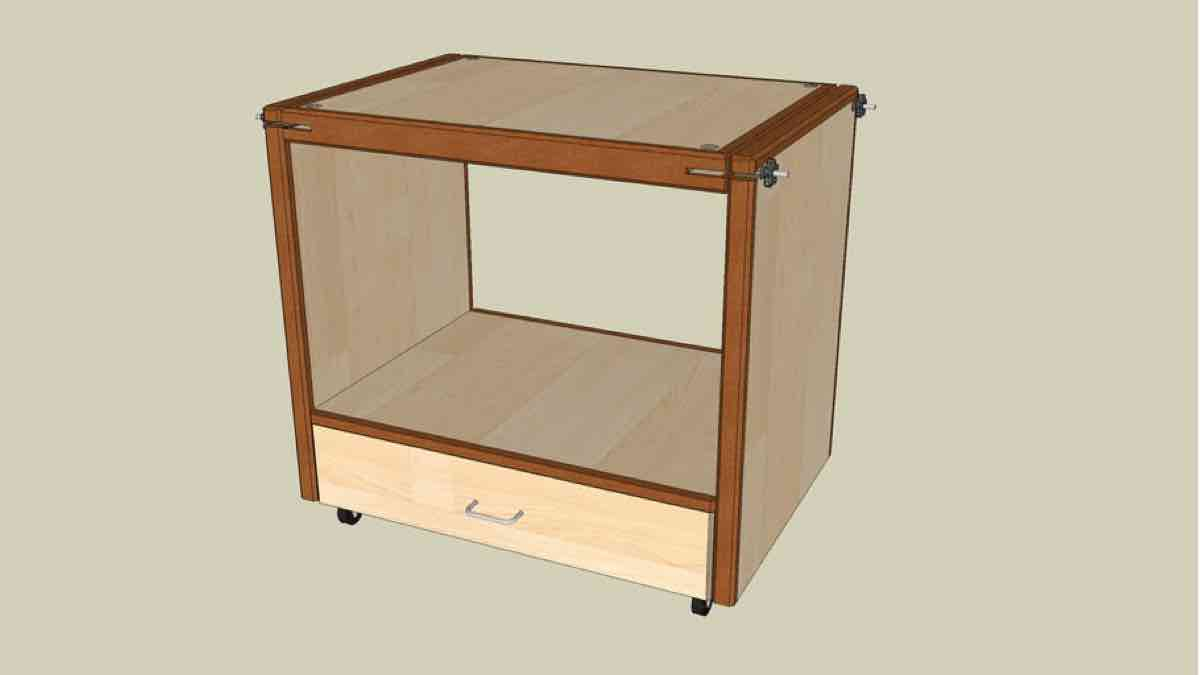SketchUp Swivel Topped Tool Cabinet Plan