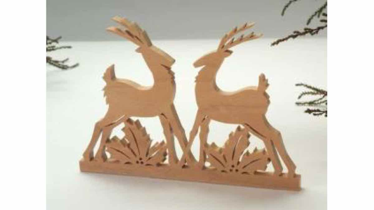 reindeer,christmas,scroll saw,free woodworking plans,scrollsaw,yard art,ornaments,projects,do it yourself,woodworkers