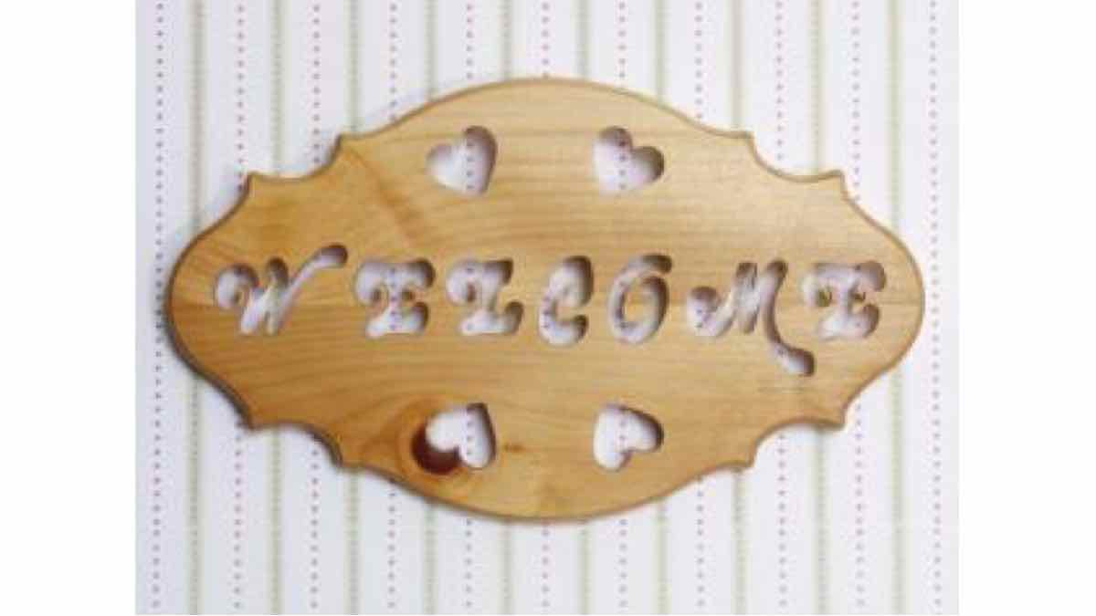 welcome,signs,scroll saw,scrollsaw,plaques,easy,beginners,free woodworking plans,projects,do it yourself,woodworkers