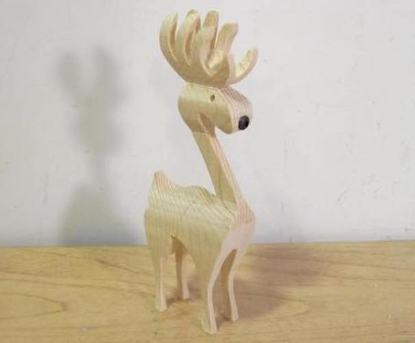 Build a few 3D Reindeer on the Bandsaw using free plans.