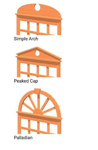 Free plans to build Trellis Toppers.