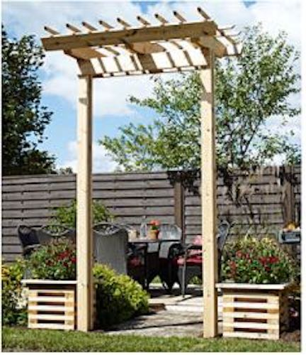 Free plans to build a Pergola Arch by Rona.