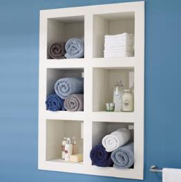 Recessed Shelving Unit