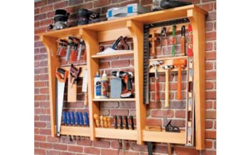 Wall-Mounted Tool Rack