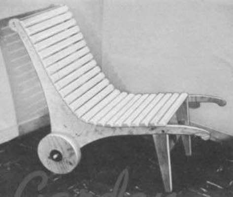 Free plans to build a Garden Chair Using Plywood.