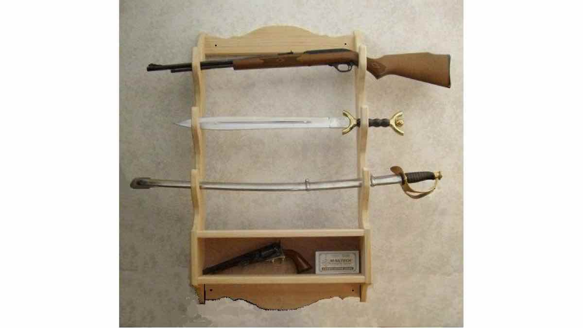 gun racks,storage,wall mounted,free woodworking plans,projects,do it yourself,woodworkers