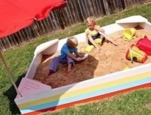 Build a Sandbox For The Backyard using free plans.