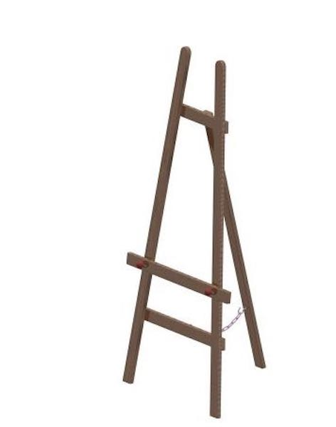 Build a A-Frame Tripod Easel using free plans.